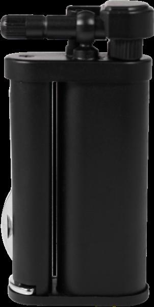 Pearl Eddie Pfeife Feuerzeug matt schwarz nachfüllbar, Neuware schräge Flamme