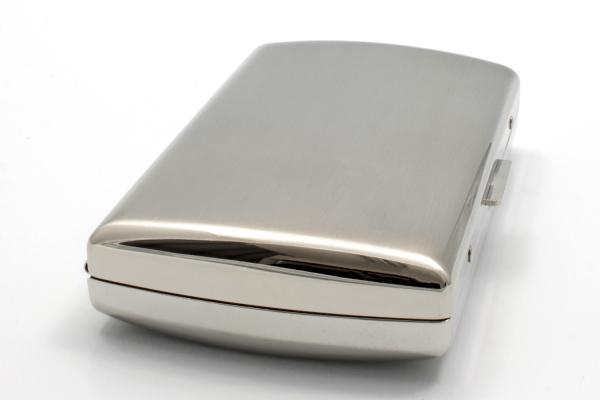 Pearl Premium Zigaretten Etui silber mattiert