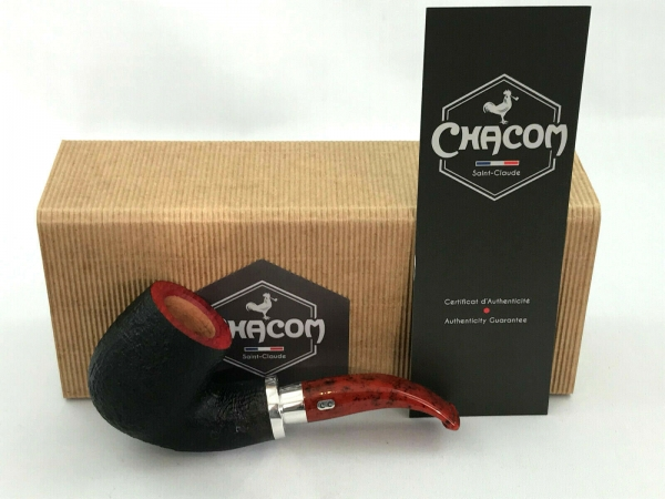 Chacom Pfeife Skipper 41 rot - schwarz sandgestrahlt 9mm Filter