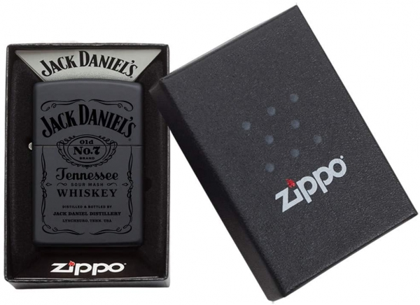 Zippo Feuerzeug Jack Daniel's Black in Black