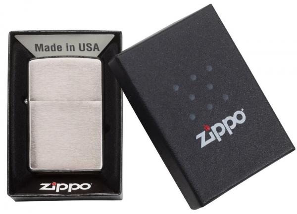 ZIPPO Feuerzeug Chrom Gebürstet - 60000804