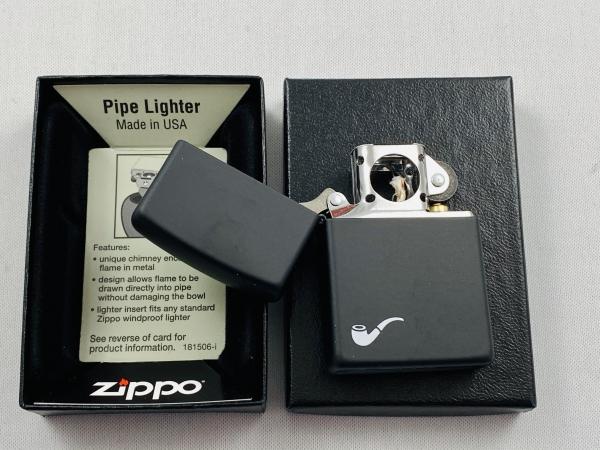 ZIPPO Pfeifen Feuerzeug matt schwarz - 60001269