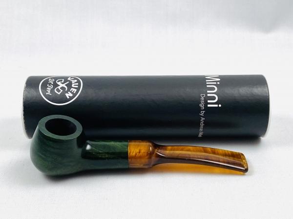VAUEN Minni 6 grün Bruyereholz Pfeife - 9mm Filter