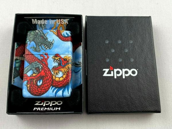 ZIPPO Drache Fighting Dragon 540° Color Neuheit 2021 Benzin Feuerzeug - 60005658