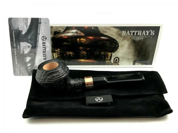 Rattray's Distillery 129 Pfeife - 9mm Filter sandgestrahlt schwarz