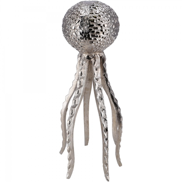 Metall Objekt Ocean Qualle Aluminium Silber Dekoration