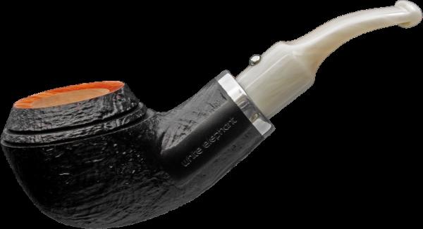 White Elephant Pfeife Ebony & Ivory sandgestrahlt Shape 3
