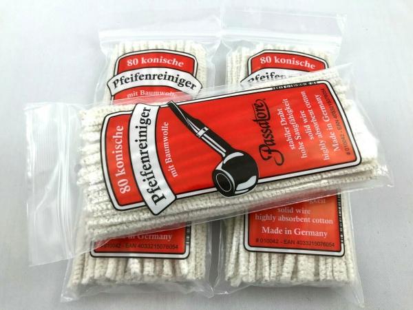 3x 80 Stück Passatore weiche Pfeifenreiniger weiß Baumwolle