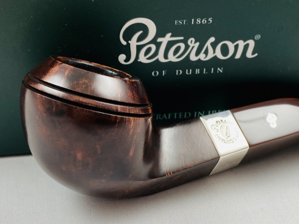 Peterson Pfeife Irish Harp 80S - 9mm Filter System - 925 Sterling Silber